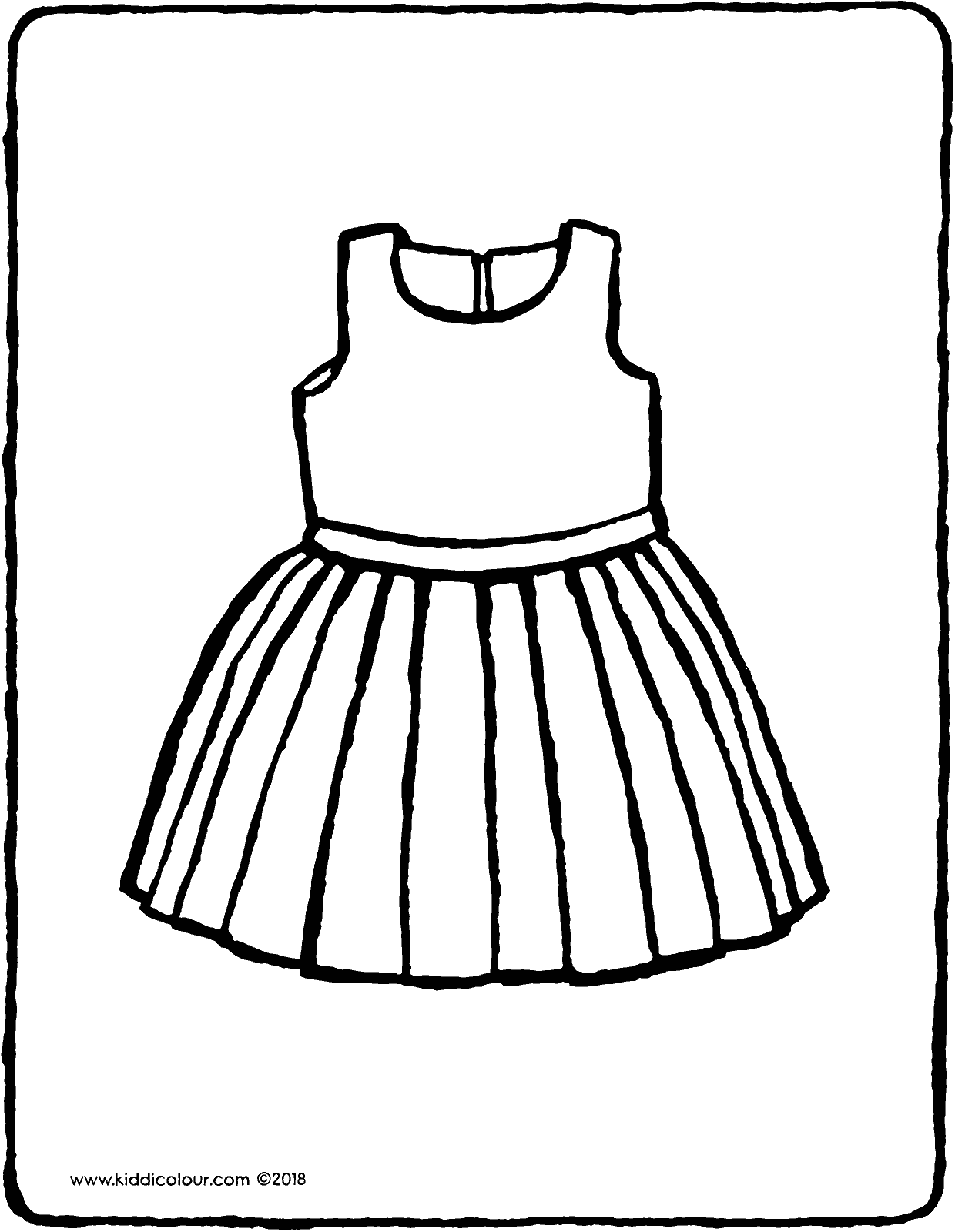 vêtements robe coloriage dessin image à colorier 01V