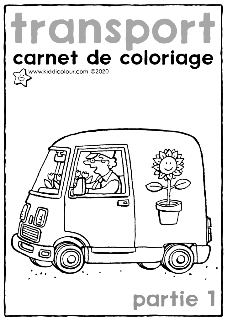 carnet de coloriage transport partie 1